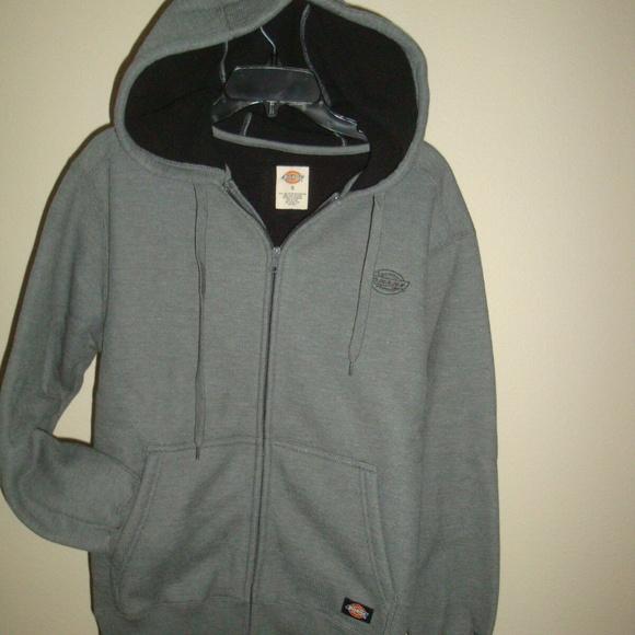 Dickies Midweight Fleece Lined Pullover Sweatshirt Gray XL